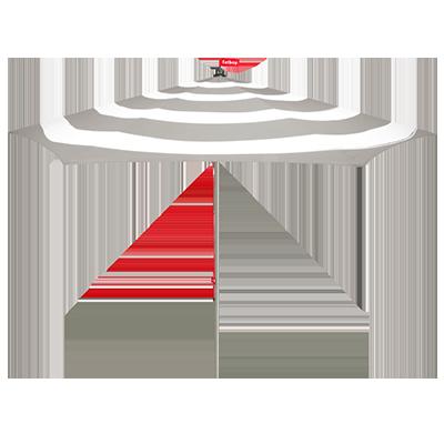 FATBOY Parasoll Stripe Grå/vit