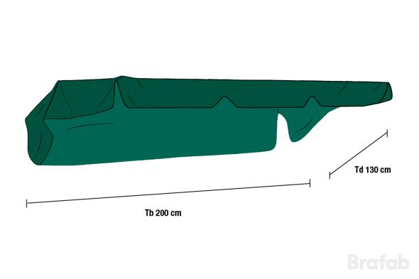 HAMMOCKTAK 200x130cm Grönt