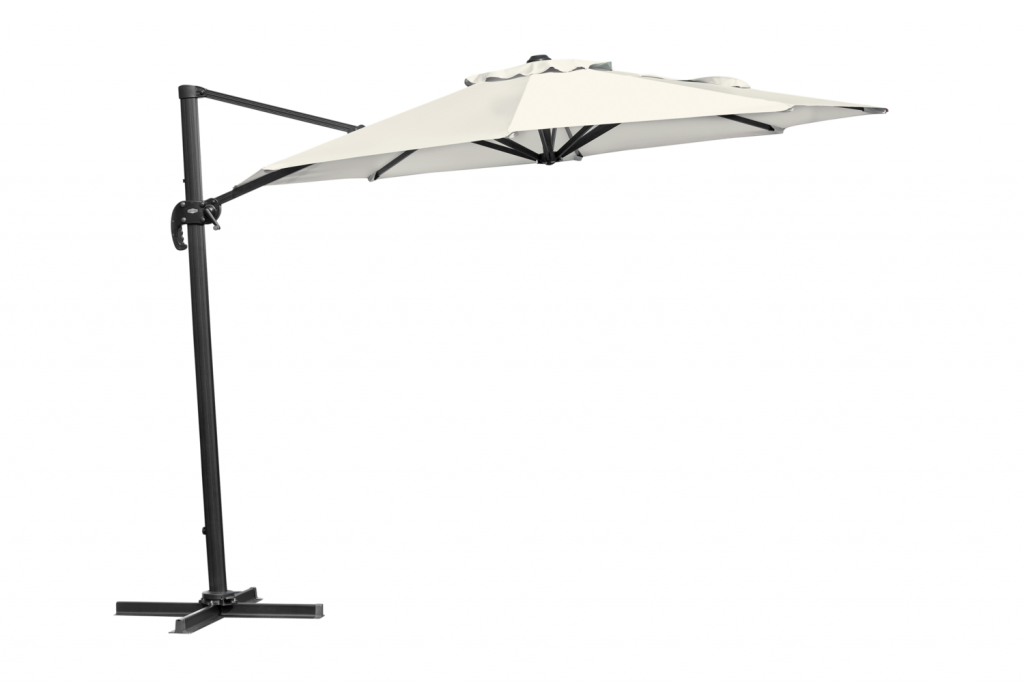 LINZ Frihängande Parasoll 3m Antracit/Khaki