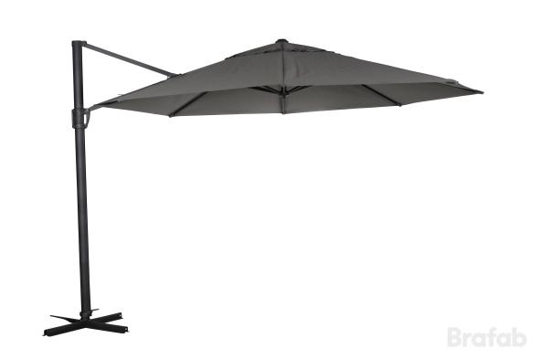 LINZ frihängande Parasoll 3m Antracit/Grå