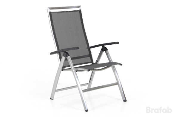 SUNNY Pos.stol Borstad Alu/Grå