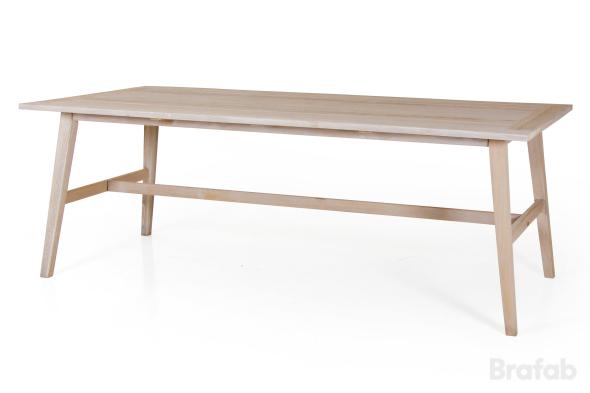 Vidos grupp bord 100x220cm & 6 Costa fåtölj Vit