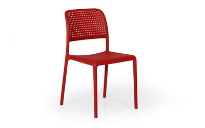 BORA Bistrot Stapelstol Röd