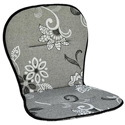 STAPELSTOLSDYNA Låg Flower grå