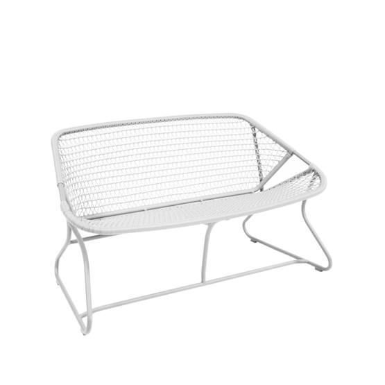 SIXTIES Soffa 118 cm Aluminium/konstrotting Cotton white