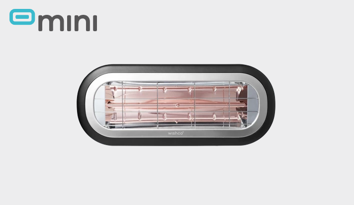 WISHCO Värmelampa Mini 1500 Svart