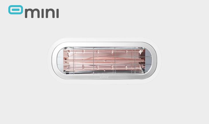 WISHCO Värmelampa Mini 1500 Vit