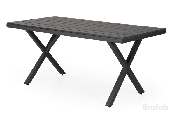 Leone grupp bord 90x150cm Svart & 4 stapelstol svart