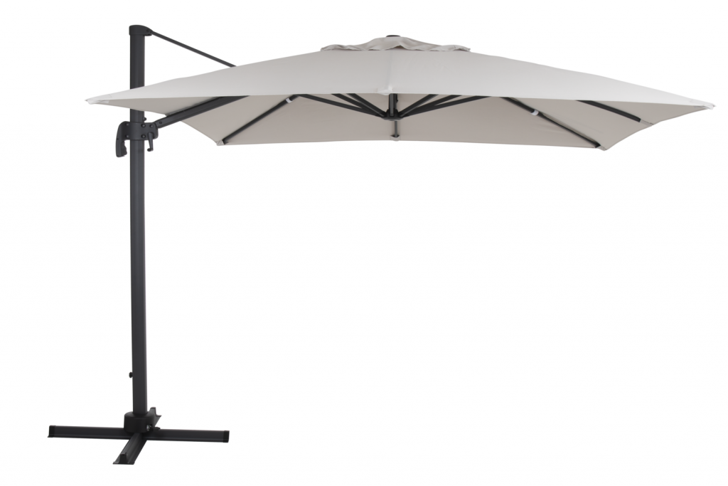 LINZ Frihängande Parasoll 3x3m Antracit/Khaki