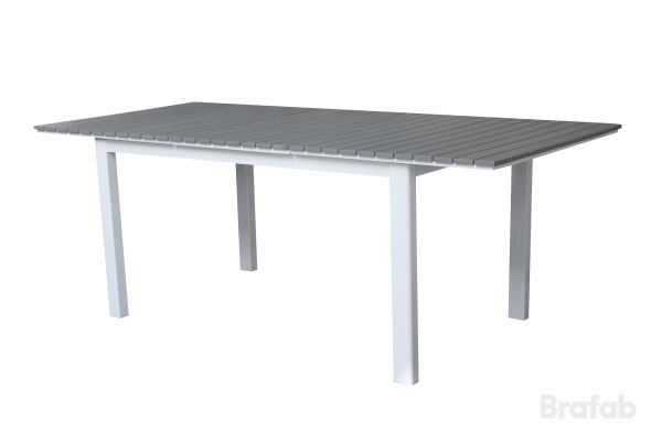 Tilos Bord 96x154-210cm Vit/grå