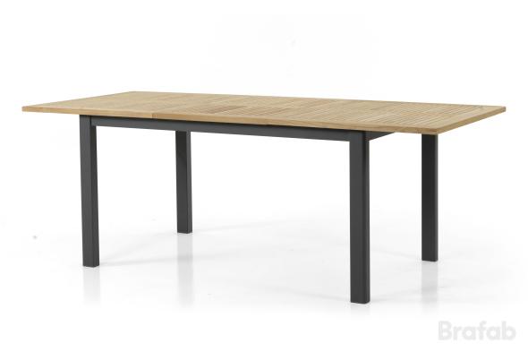 Lyon Bord 92x152-210cm Svart/teak