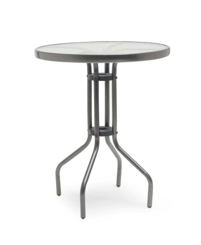 ARVIKA Bord grå 60cm stål/glas