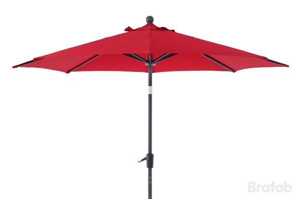 FLORENS Parasoll 2,7m Antracit/Röd