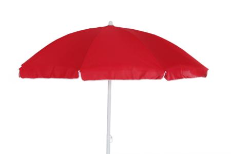 CALABRIA Strandparasoll 2m Röd/Vit