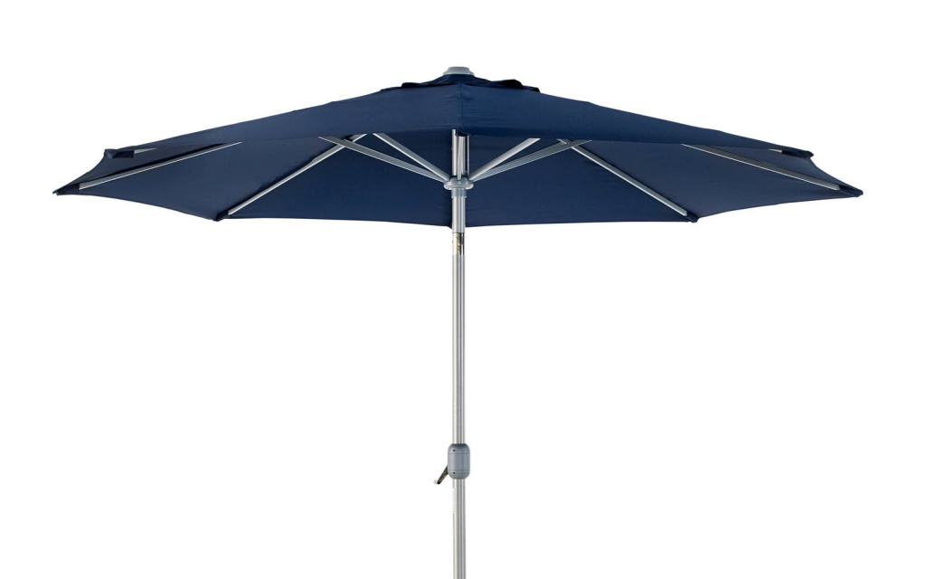 ANDRIA Alu-parasoll 3m Silver/Blå