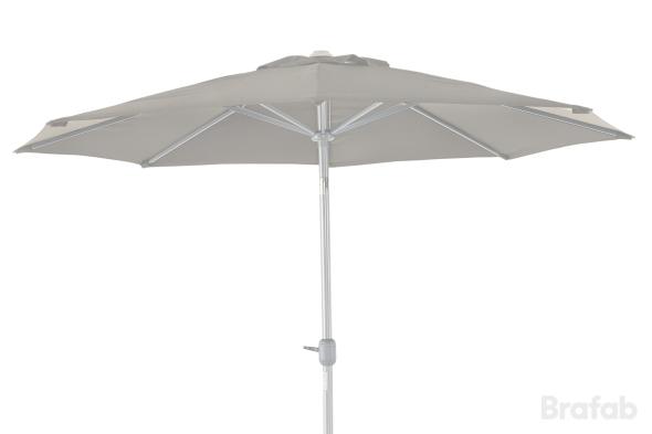 ANDRIA Alu-parasoll 3m Silver/Beige