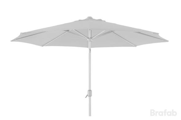 ANDRIA Alu-parasoll 3m Vit/Vit