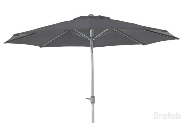 ANDRIA Alu-parasoll 3m Silver/Grå