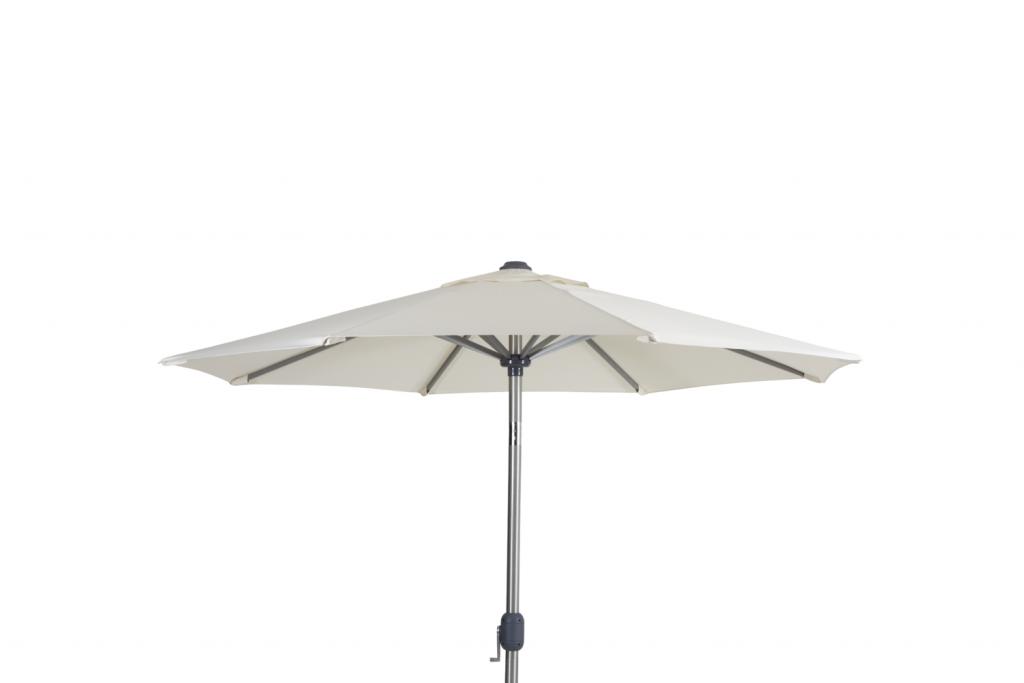 ANDRIA Alu-parasoll 2.5m runt Silver/Beige