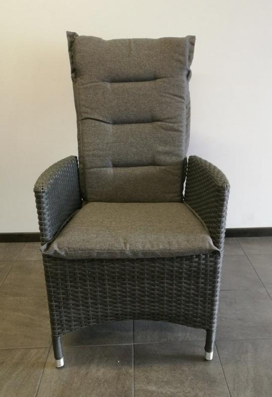 GEORGIA Pos.stol inkl. dyna Mörkgrå