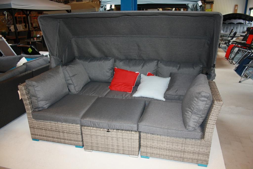 Bora Bora soffa med solskärm vit/grå