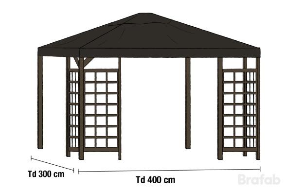 HOV Paviljong 3x4m inkl tak Java