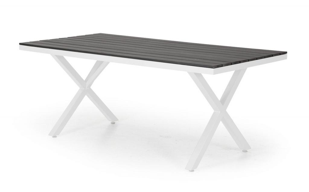 LEONE Bord 100x200cm matt Vit/Grå