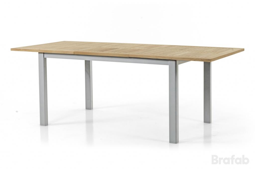 LYON Bord 92x152-210cm Silver/Teak