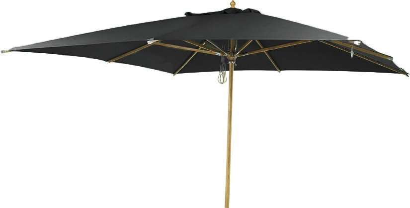 Summer parasoll 3x3m svart