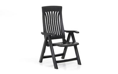 FLORA Pos.stol plast Grå