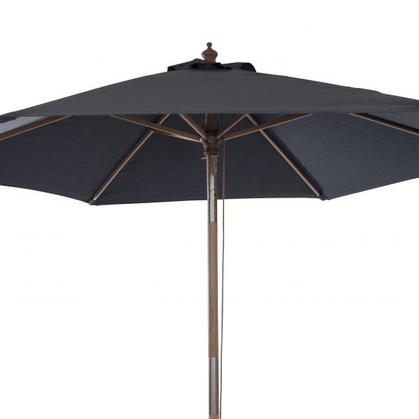 Luna parasoll 2.3m mörkgrå