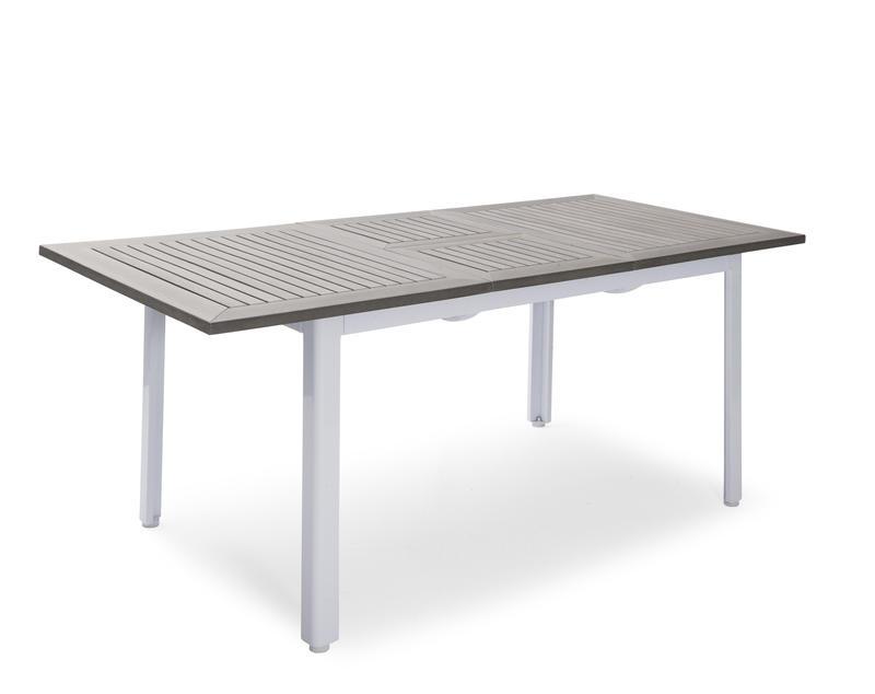 Nydala Bord 90x150-200cm Vit/Grå