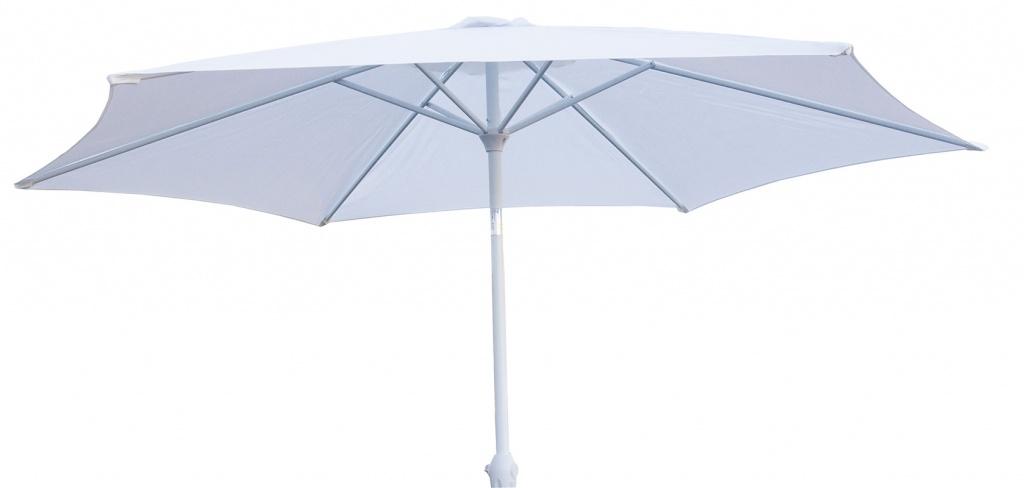 Miami parasoll 300cm vit/vit