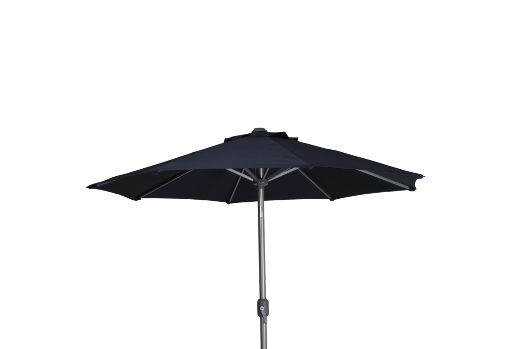 ANDRIA Alu-parasoll 2.5m runt Silver/Blå