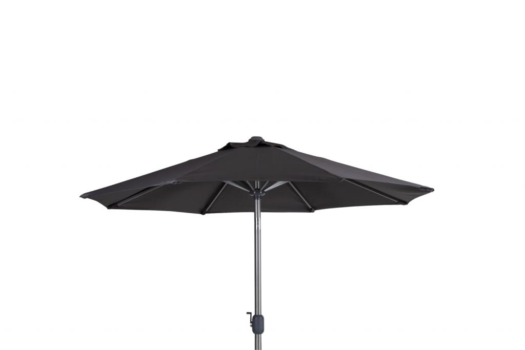 ANDRIA Alu-parasoll 2.5m runt Silver/Grå