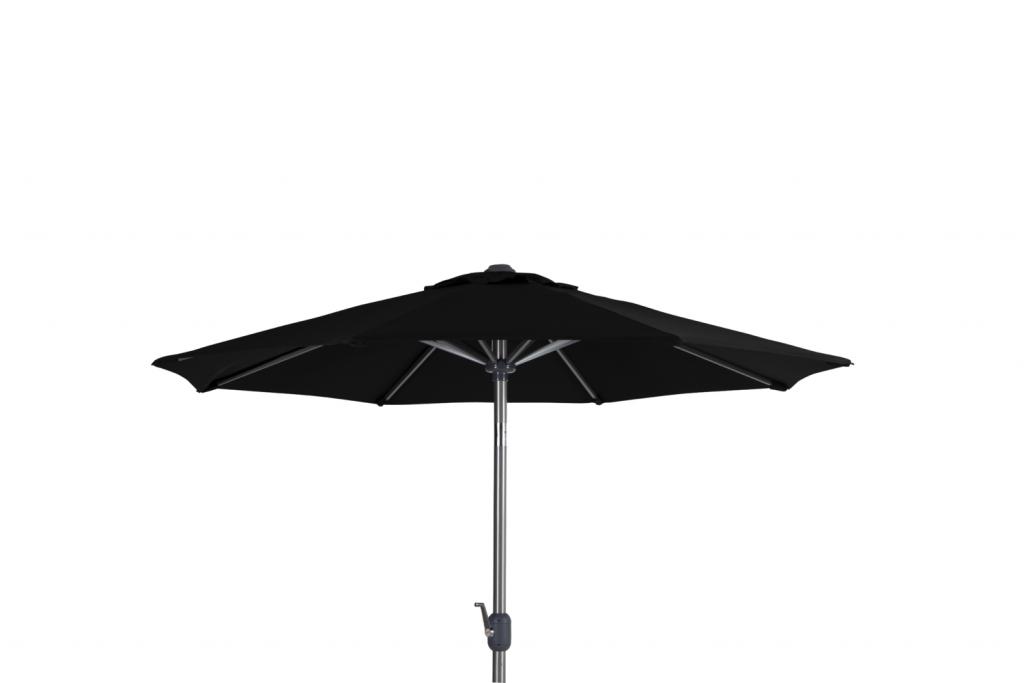 ANDRIA Alu-parasoll 2.5m runt Silver/Svart