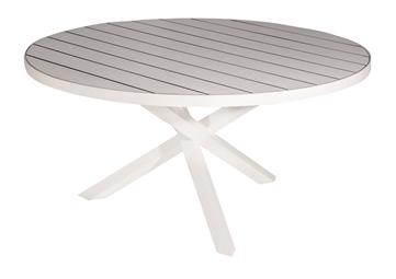 Visby bord Ø150 cm vit alu/laminat