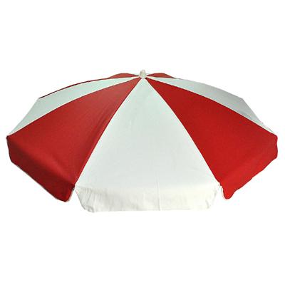 PARASOLL 180cm PVC Röd/vit