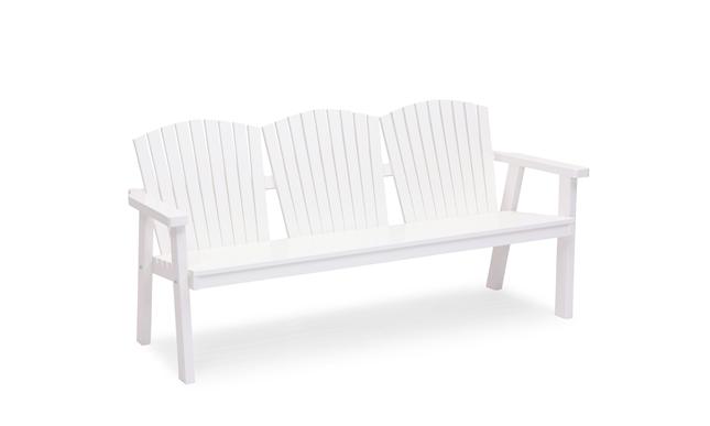 SOLVIK 3-sits soffa Vit