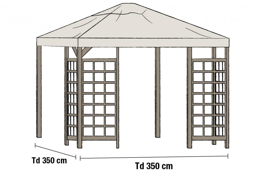HOV Tak 3.5x3.5m Beige
