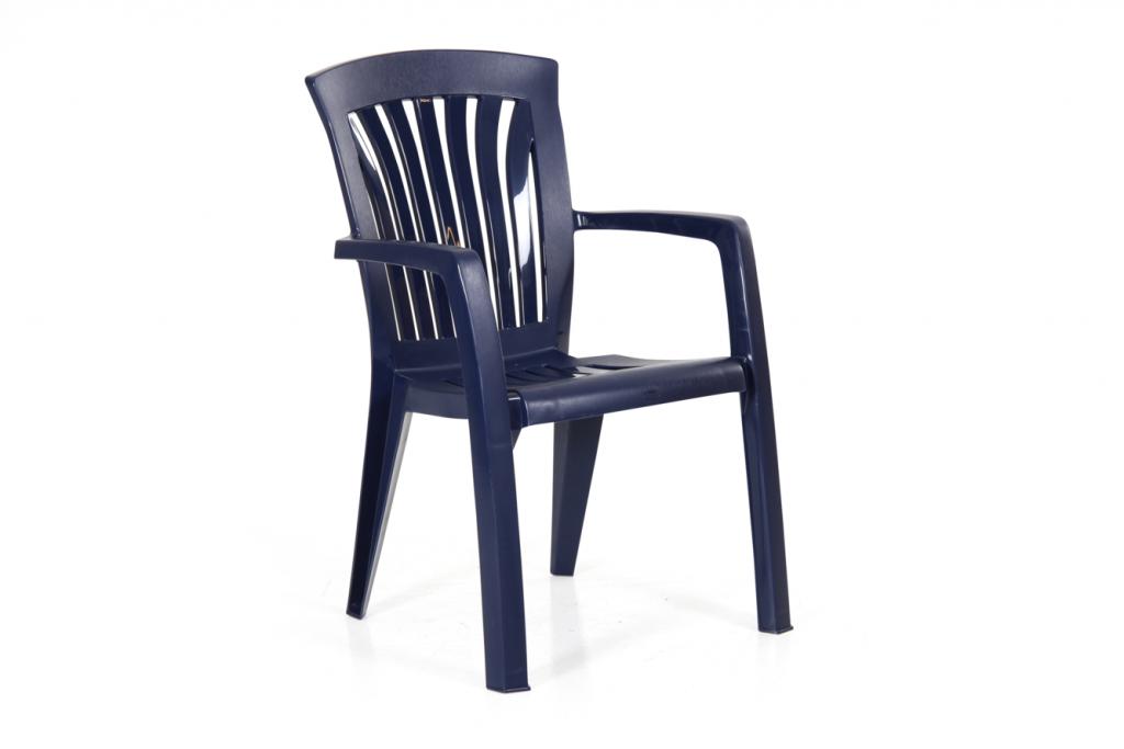 DIANA Stapelstol plast Blå