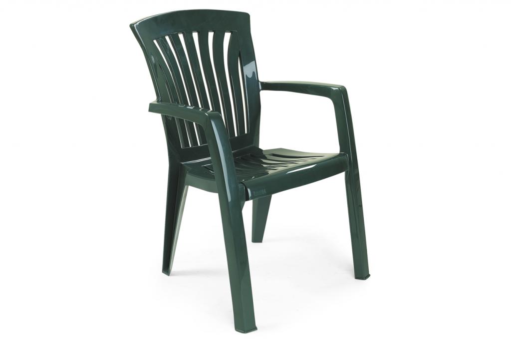 DIANA Stapelstol plast Grön