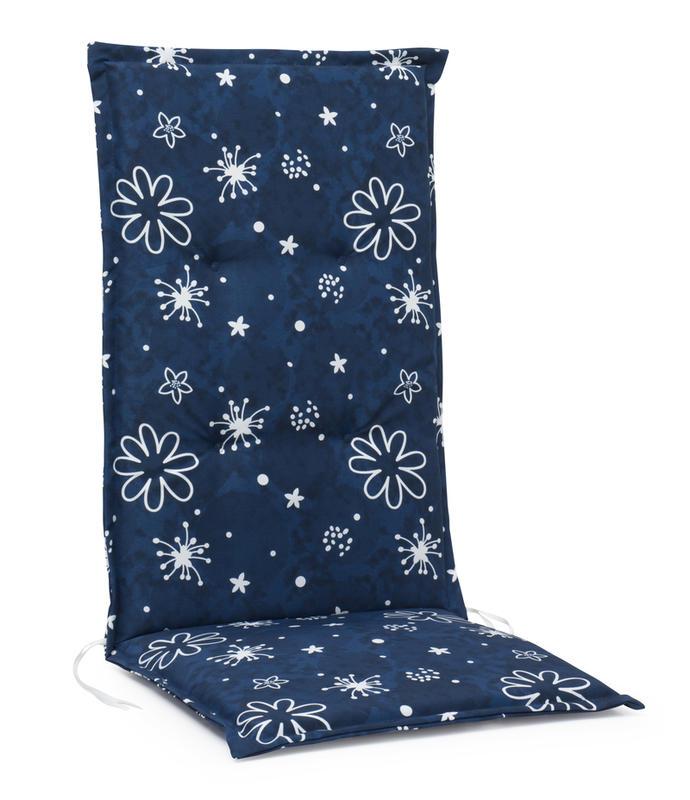 MONZA Pos.dyna hög 5cm Polyester Blå mönstrad