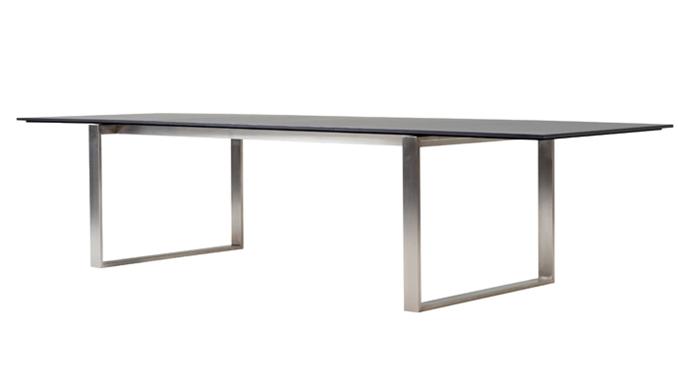 EDGE Bord 100x210-330cm Rostfrittstål/kompaktlaminat