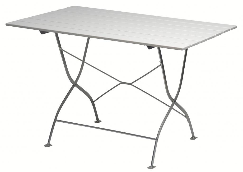 Grythyttan Bryggeribord 110x70 vitlackad ek/elförzinkat stativ