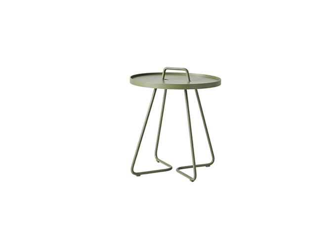 On-the-move sidobord litet Olive green