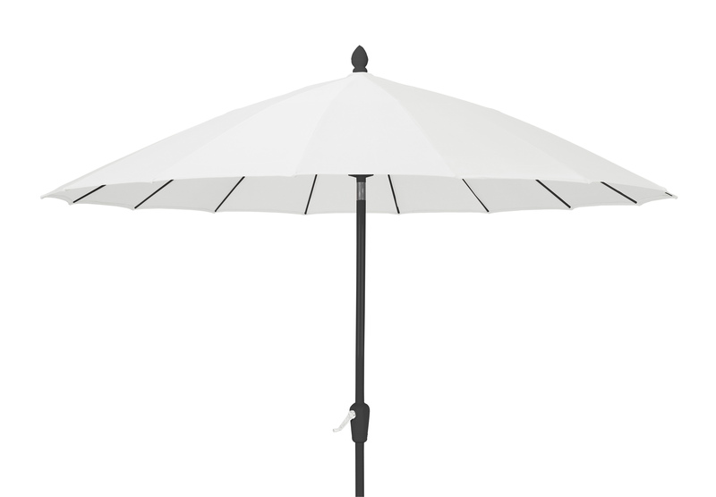 Classic parasoll 2,7m Vit/Svart