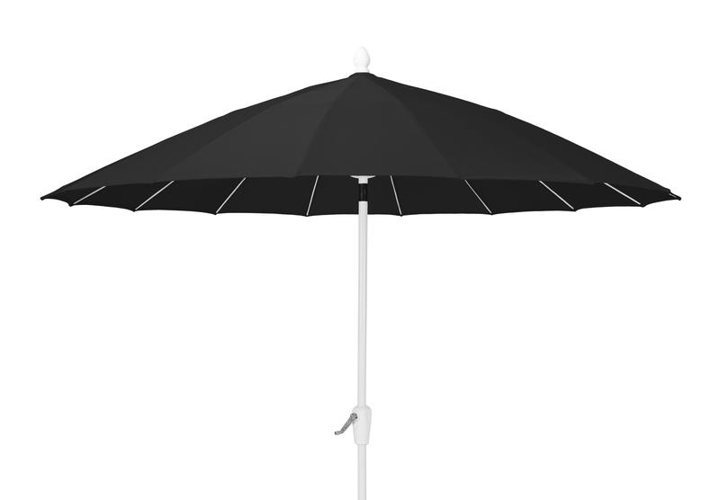 Classic parasoll 2,7m Svart/Vit