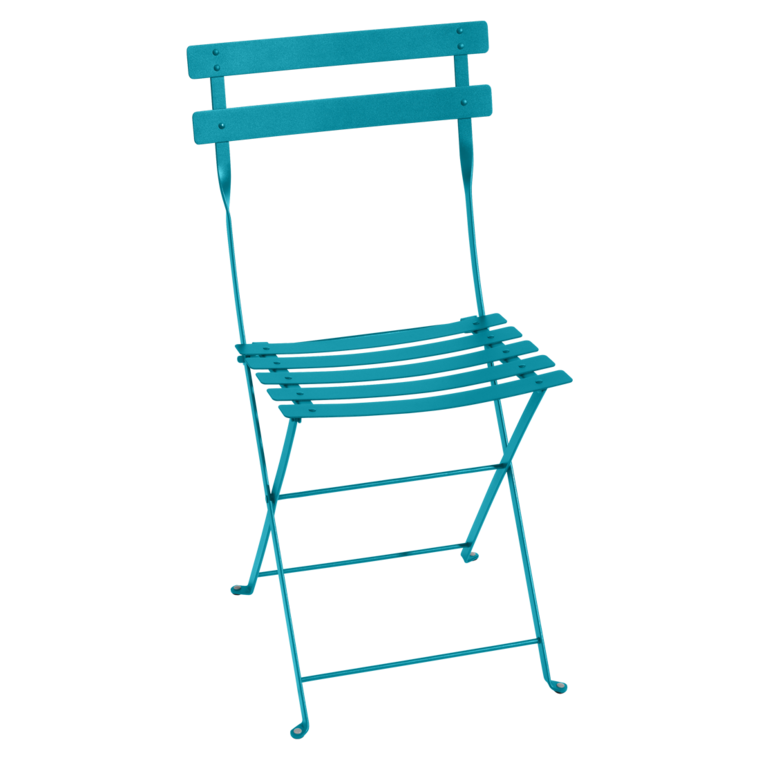 Bistro metal Stol Turquoise blue