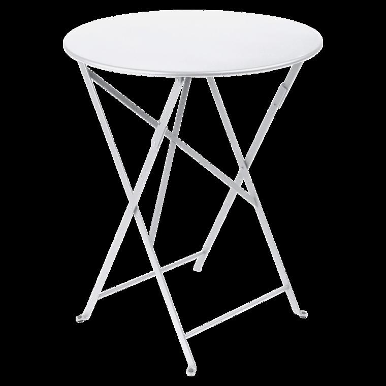 Bistro metal bord 60cm Cotton white
